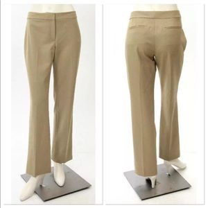 Tahari Khaki Straight Leg Trousers Business Slacks
